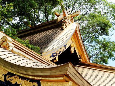 龍王神社の屋根