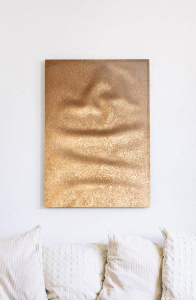 【純チタン】時を刻む黄金の金属絨毯